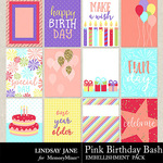 Pink Birthday Bash Journal Cards Pack-$1.40 (Lindsay Jane)