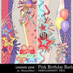 Pink Birthday Bash Border Pack-$1.40 (Lindsay Jane)