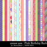 Pink Birthday Bash Paper Pack-$2.49 (Lindsay Jane)