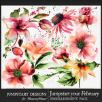 Jumpstart Your February 2017 Artful Blooms Pack-$3.99 (Jumpstart Designs)