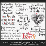 Jumpstart Your February 2017 WordArt Pack-$3.99 (Jumpstart Designs)