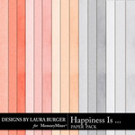 Happiness Is Solid Paper Pack-$2.10 (Laura Burger)