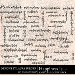 Happiness Is WordArt Pack-$4.99 (Laura Burger)