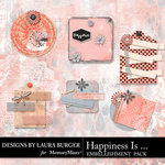 Happiness Is Stacked Tags Pack-$3.49 (Laura Burger)