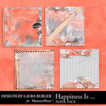 Happiness Is Stacked Paper Pack-$3.49 (Laura Burger)