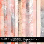 Happiness Is Grunge Paper Pack-$3.99 (Laura Burger)