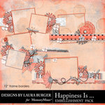 Happiness Is Stacked Frame Borders-$4.99 (Laura Burger)