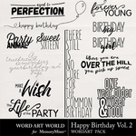 Happy Birthday Vol 2 WordArt Pack-$2.49 (Word Art World)