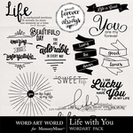 Life With You WordArt Pack-$2.49 (Word Art World)