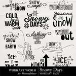 Snowy Days WordArt Pack-$2.49 (Word Art World)