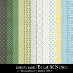 Beautiful Nature Pattern Paper Pack-$1.99 (Lindsay Jane)