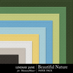 Beautiful Nature Embossed Paper Pack-$1.99 (Lindsay Jane)