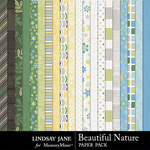 Beautiful Nature Paper Pack-$2.49 (Lindsay Jane)