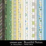 Beautiful Nature Paper Pack-$2.49 (Lindsay Jane)
