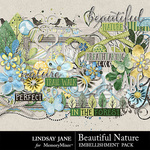 Beautiful Nature Embellishment Pack-$3.49 (Lindsay Jane)