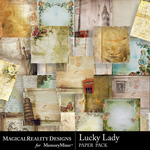 Lucky Lady Paper Pack-$5.49 (MagicalReality Designs)
