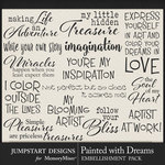 Painted With Dreams WordArt Pack 2-$3.99 (Jumpstart Designs)