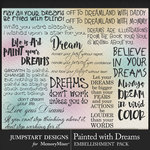 Painted With Dreams WordArt Pack 1-$3.99 (Jumpstart Designs)