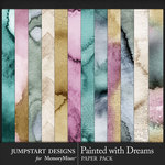 Painted With Dreams Watercolor Papers-$3.99 (Jumpstart Designs)