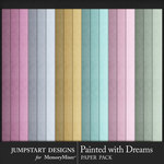 Painted With Dreams Solid Paper Pack-$3.99 (Jumpstart Designs)