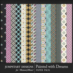 Painted With Dreams Patterned Papers-$3.99 (Jumpstart Designs)