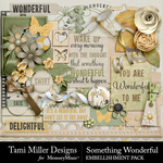 Something wonderful embellishments small