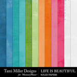 Life is Beautiful Solid Paper Pack-$1.50 (Tami Miller)