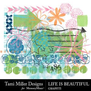 Life is beautiful graffiti medium