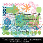 Life is Beautiful Graffiti Pack-$1.50 (Tami Miller)