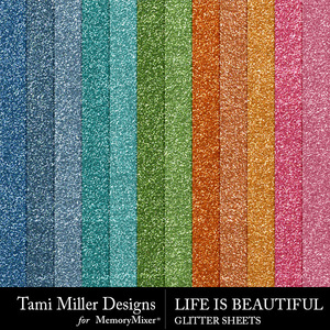 Life is beautiful glitter sheets medium