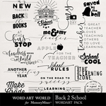 Back 2 School WAW WordArt Pack-$2.49 (Word Art World)