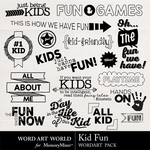 Kid Fun WordArt Pack-$2.49 (Word Art World)