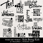 Kids Being Kids WordArt Pack-$2.49 (Word Art World)