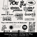 A Day for Play WordArt Pack-$2.49 (Word Art World)