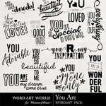You Are WordArt Pack-$2.49 (Word Art World)