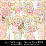Sweet Baby Girl JSS Border Pack-$1.99 (Just So Scrappy)