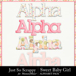 Sweet Baby Girl JSS Alphabet Pack-$2.99 (Just So Scrappy)