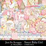 Sweet Baby Girl JSS Combo Pack-$4.99 (Just So Scrappy)