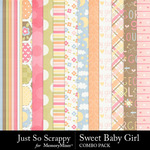Sweet baby girl kit papers small