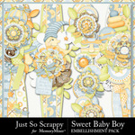 Sweet Baby Boy JSS Border Pack-$1.99 (Just So Scrappy)