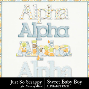Sweet baby boy alphabets medium