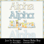 Sweet Baby Boy JSS Alphabet Pack-$2.99 (Just So Scrappy)