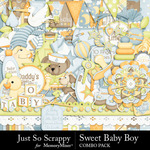 Sweet Baby Boy JSS Combo Pack-$4.99 (Just So Scrappy)