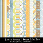 Sweet baby boy kit papers small