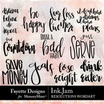 Ink Jam Resolutions WordArt Pack-$3.99 (Fayette Designs)