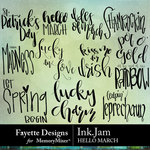 Ink Jam Hello March WordArt Pack-$3.99 (Fayette Designs)