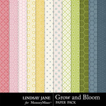 Grow and Bloom Pattern Paper Pack-$1.40 (Lindsay Jane)