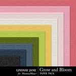 Grow and Bloom Embossed Paper Pack-$1.40 (Lindsay Jane)