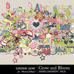 Grow and Bloom Embellishment Pack-$3.49 (Lindsay Jane)