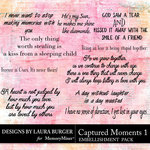 Captured Moments 1 WordArt Pack-$4.99 (Laura Burger)